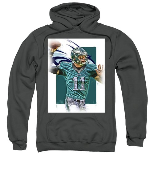 Carson Wentz Philadelphia Eagles Oil Art Sweatshirt