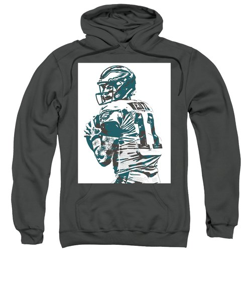 Carson Wentz Philadelphia Eagles Pixel Art 9 Sweatshirt