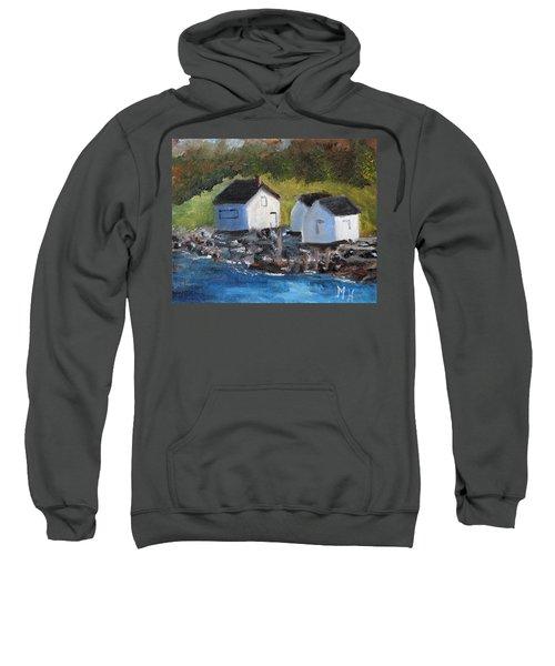 Casco Bay Boat Houses Sweatshirt