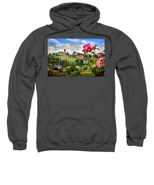 Castle And Roses In Firenze Sweatshirt
