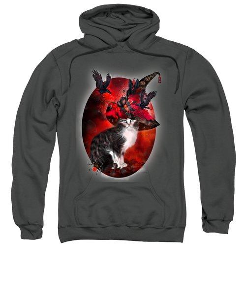 Cat In Fancy Witch Hat 1 Sweatshirt