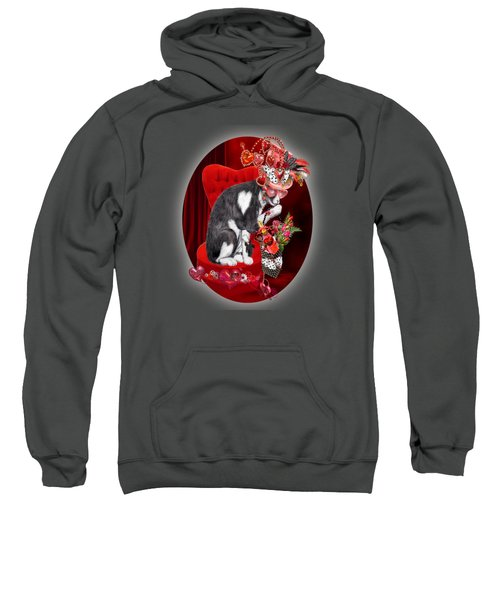 Cat In The Valentine Steam Punk Hat Sweatshirt