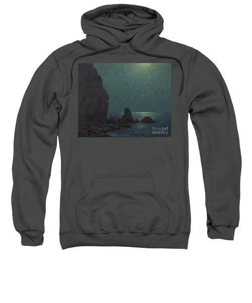 Catalina Island Coast Under A Moonlit  Sweatshirt