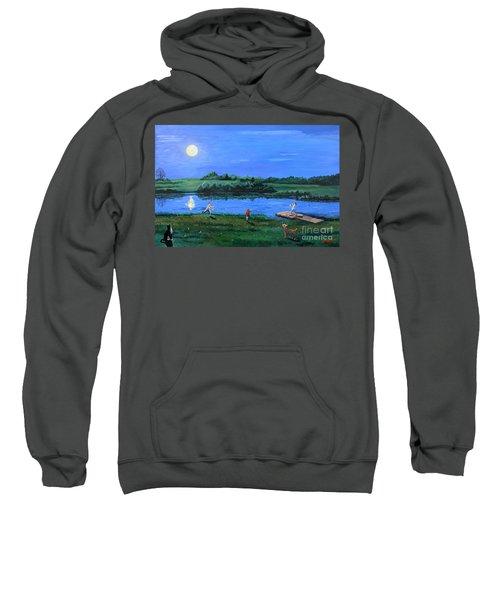 Catching Fireflies By Moonlight Sweatshirt