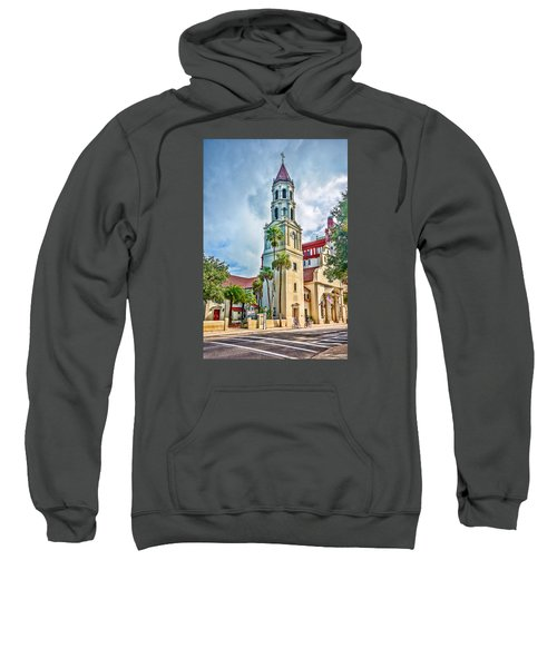 Sweatshirt featuring the photograph Cathedral Basilica by Anthony Baatz