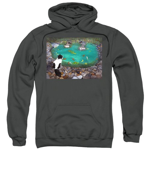 Cats And Koi Sweatshirt