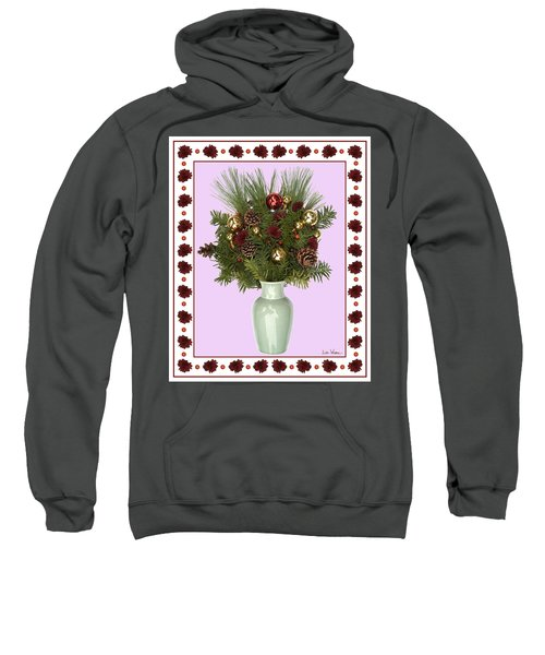 Celadon Vase With Christmas Bouquet Sweatshirt