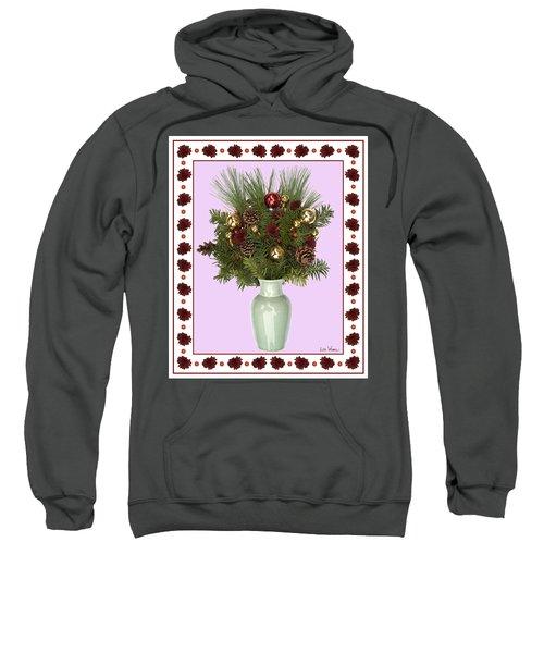 Celadon Vase With Christmas Bouquet Sweatshirt