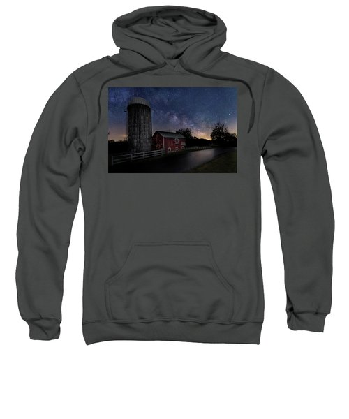 Sweatshirt featuring the photograph Celestial Farm by Bill Wakeley