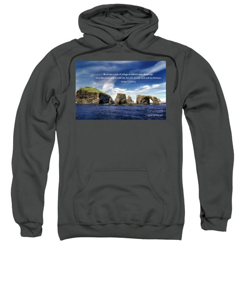 Channel Island National Park - Anacapa Island Arch With Bible Verse Sweatshirt