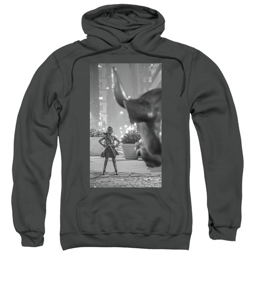 Charging Bull And Fearless Girl Nyc  Sweatshirt