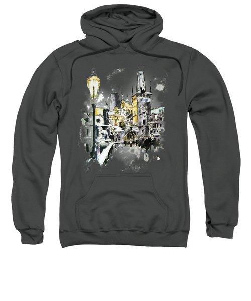 Charles Bridge In Winter Sweatshirt by Melanie D