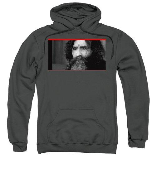 Charles Manson Screen Capture Circa 1970-2015 Sweatshirt