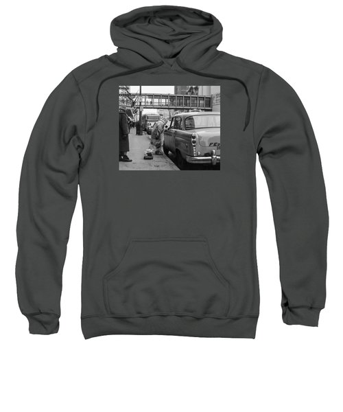 Chatting Up A Cabby On 7th Street Sweatshirt