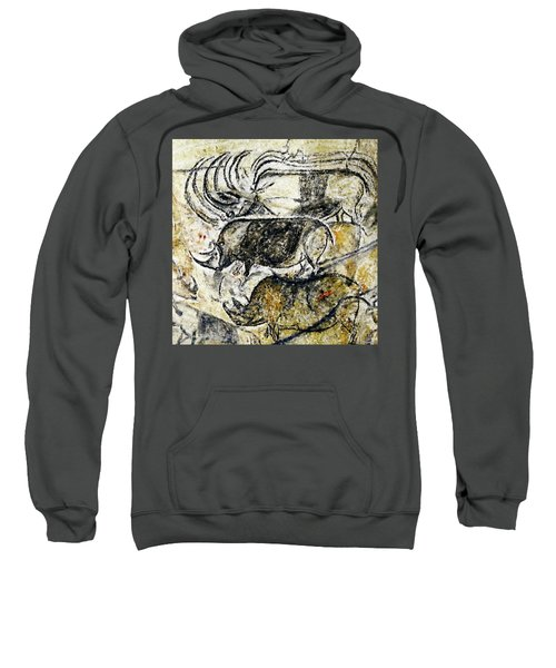 Chauvet Three Rhinoceros Sweatshirt