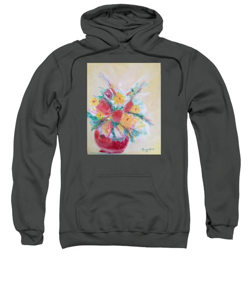 Cheerful Flower Arrangement Sweatshirt by Roxy Rich