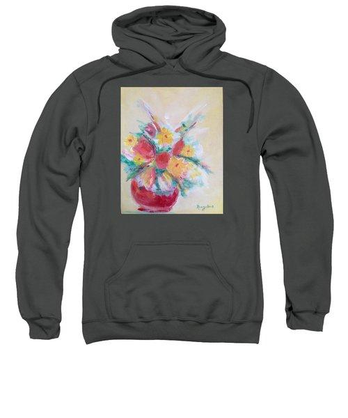 Cheerful Flower Arrangement Sweatshirt