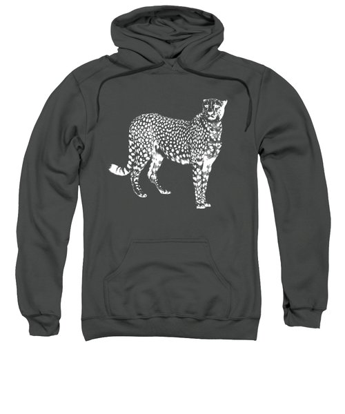 Cheetah Cut Out White Sweatshirt by Greg Noblin