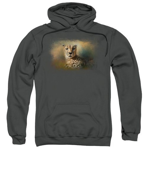 Cheetah Enjoying A Summer Day Sweatshirt by Jai Johnson