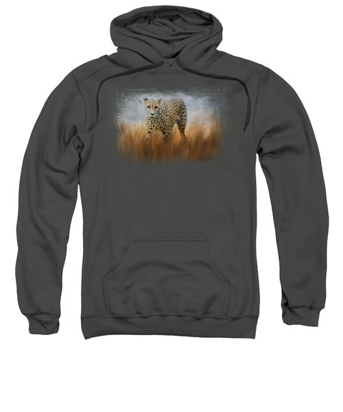 Cheetah In The Field Sweatshirt by Jai Johnson
