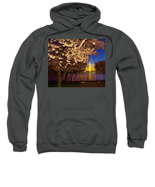 Cherry Blossom Washington Monument Sweatshirt