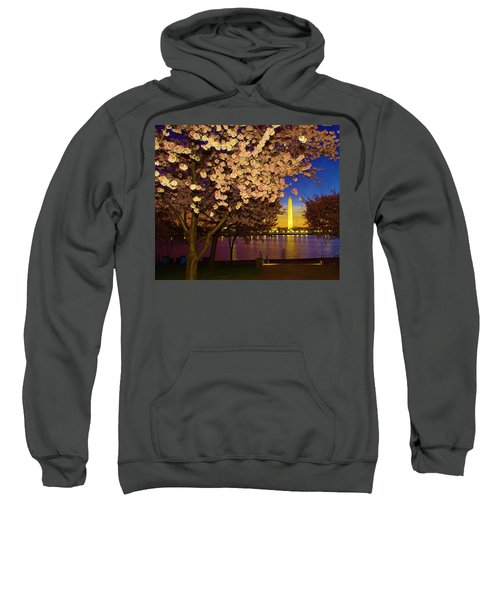 Cherry Blossom Washington Monument Sweatshirt