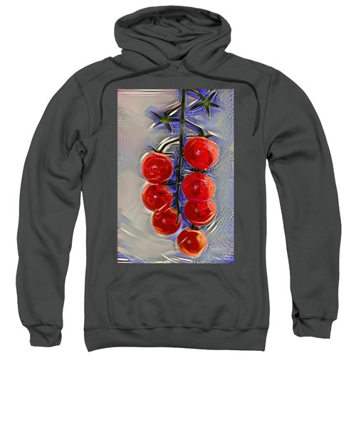 Cherry Tomatoes On A Branch Sweatshirt