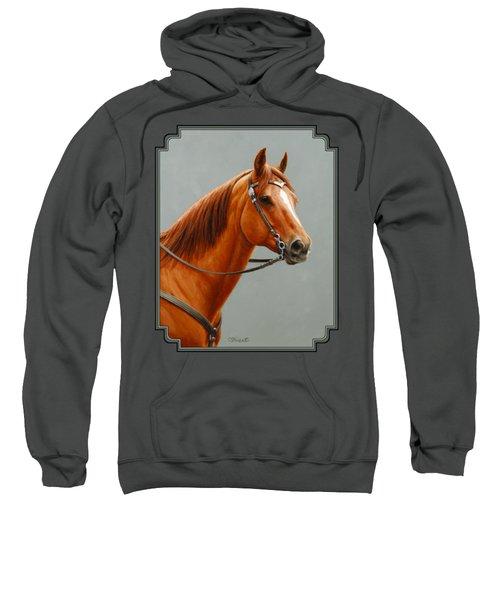 Chestnut Dun Horse Painting Sweatshirt by Crista Forest