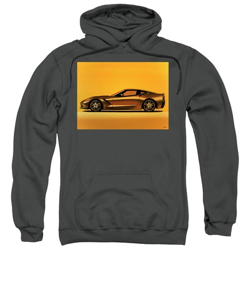 Chevrolet Corvette Stingray 2013 Painting Sweatshirt