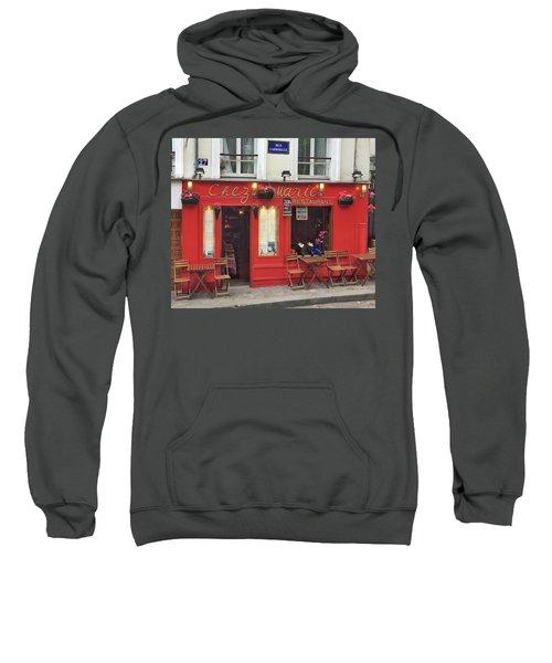Chez Marie Restaurant, Montmartre, Paris Sweatshirt