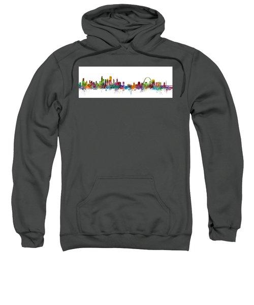 Chicago And St Louis Skyline Mashup Sweatshirt