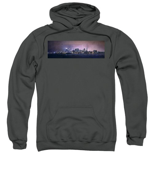 Chicago Skyline From Evanston Sweatshirt