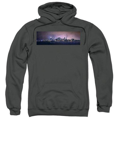 Chicago Skyline From Evanston Sweatshirt by Scott Norris