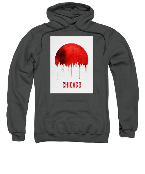 Chicago Skyline Red Sweatshirt by Naxart Studio