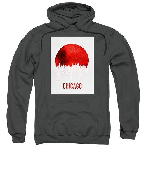 Chicago Skyline Red Sweatshirt