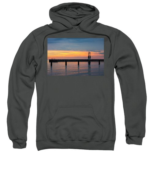 Sweatshirt featuring the photograph Chicago Sunrise At North Ave. Beach by Adam Romanowicz