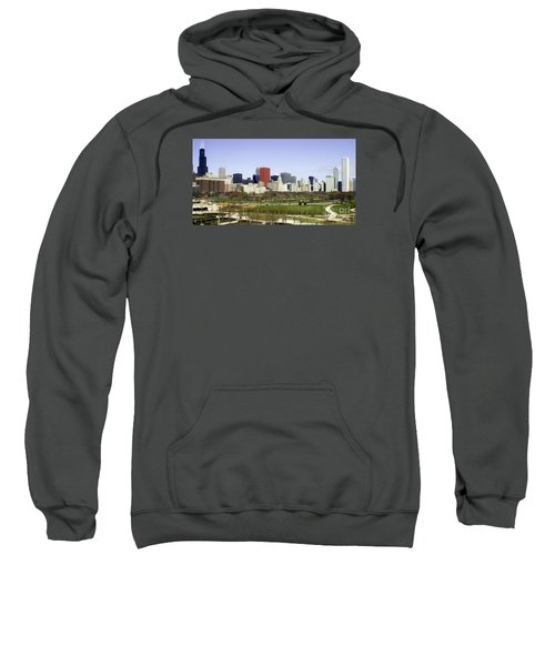 Sweatshirt featuring the photograph Chicago- The Windy City by Ricky L Jones