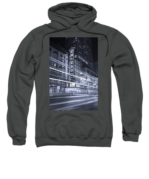 Chicago Theater Marquee B And W Sweatshirt