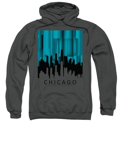 Chicago Turqoise Vertical Sweatshirt by Alberto RuiZ