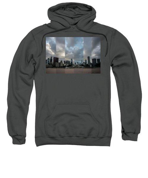 Chicago's Buckingham Fountain Time Slice Photo Sweatshirt