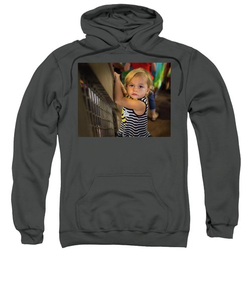 Sweatshirt featuring the photograph Child In The Light by Bill Pevlor
