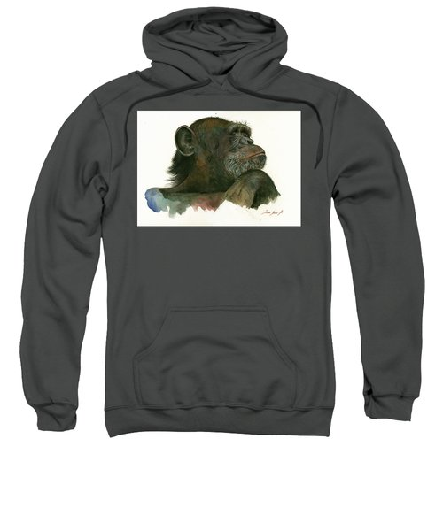 Chimp Portrait Sweatshirt by Juan Bosco