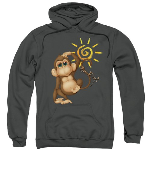 Chimpanzees, Mother And Baby Sweatshirt by Maria Astedt