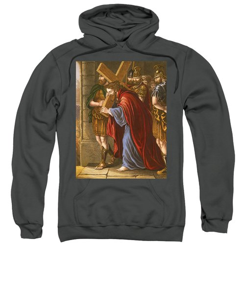 Christ Bearing The Cross Sweatshirt