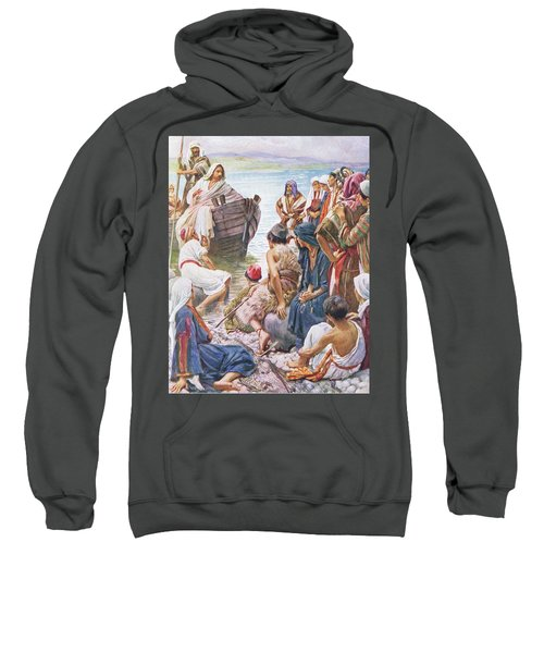 Christ Preaching From The Boat Sweatshirt