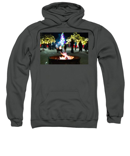 Sweatshirt featuring the photograph Christmas Fire Pit by Stephen Holst