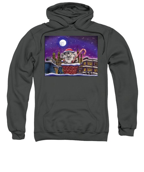 Christmas Koala In Chimney Sweatshirt