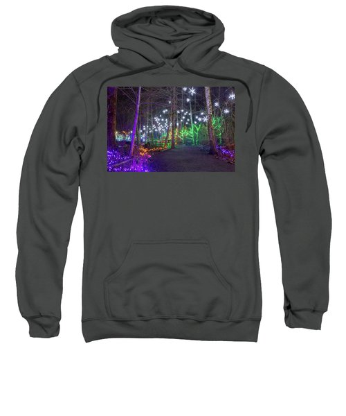 Christmas Lights Decoration Along Lafarge Lake Path Sweatshirt
