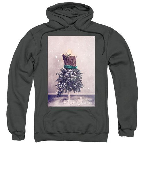 Christmas Mannequin Dressed In Fir Branches Sweatshirt