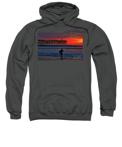 Christmas Surfer Sunset Sweatshirt